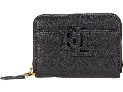 LAUREN Ralph Lauren Classic Pebble Logo Zip Wallet Small