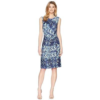 NIC+ZOE Seaside Tile Dress (Multi) Women