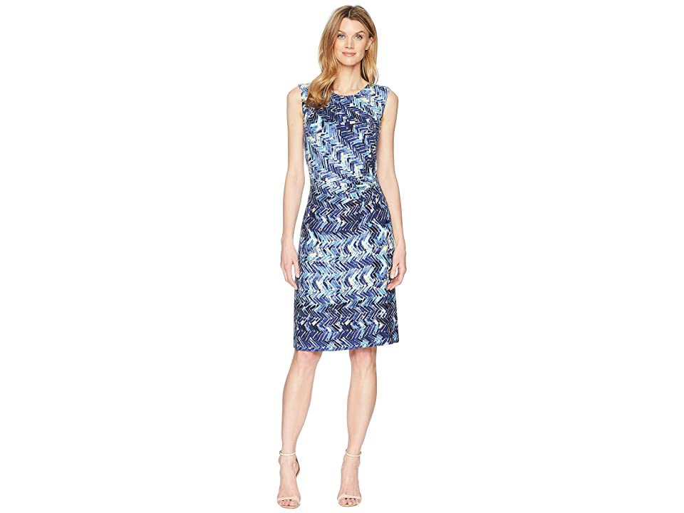 NIC+ZOE Seaside Tile Dress (Multi) Women