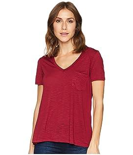 1582 Rayon Jersey Knit Short Sleeve V-Neck Tee