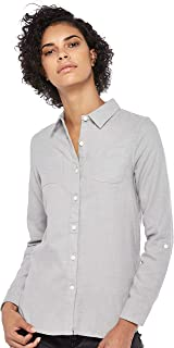 Giordano womens 05347602 Women Cotton Flannel Shirt