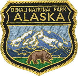 Alaska Denali National Park Logo Flag Patch Series Embroidered Sew/Iron on Badge DIY Appliques