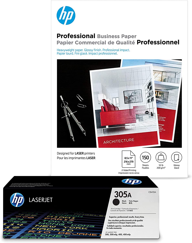 HP 305A Black Toner + Brochure Regular store Paper sh x 11 Dealing full price reduction Laser 150 8.5