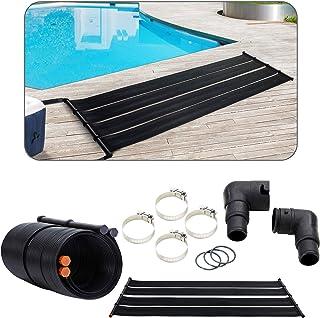 Arebos 2X Solarheizung Solarkollektor Poolheizung | 2er Set | 300x66 cm | UV-beständiger Kunststoff | Schwarz | Beliebig erweiterbar
