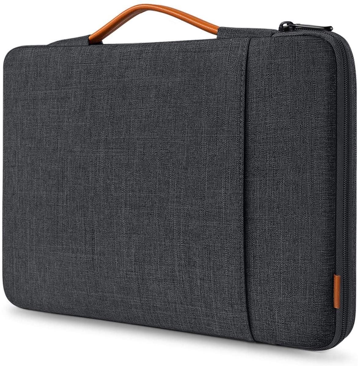 Inateck 13-13.5 Inch 360 Protective Laptop Sleeve Carrying Case Bag Compatible with 13 inch MacBook Pro 2012-2020, MacBook Air 2010-2020, 12.3 Surface Pro X/7/6/5/4/3, 13.5 Surface Laptop-Black Gray