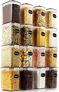 Airtight Food Storage Containers - Wildone Cereal & Dry Food Storage Container Set of 16 [54oz /1.6L] for Sugar, Flour and...