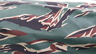 Viet Nam Tiger Stripe Camouflage Polyester Cotton Twill Fabric 64
