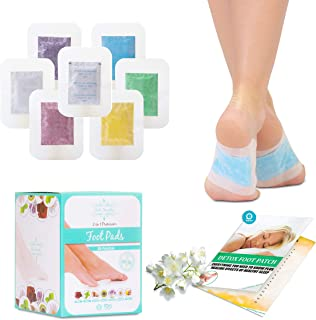Bamboo Vinegar Foot Pads (28 Pack) 100% Natural Body Cleanse Patches, Vitamin C - 7 Aromas Organic Ginger Mint Green Tea Lavender, Detox Foot Patch Metabolism Booster Toxin Remover Deep Sleep