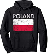 Vintage Poland Polish Flag Pride Gift Pullover Hoodie