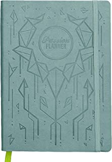 Academic Passion Planner Small Aug 2019 - Jul 2020 - Goal Oriented Weekly Agenda, Reflection Journal (A5-5.8 x 8.3 in) Monday Start (Digital Blue)