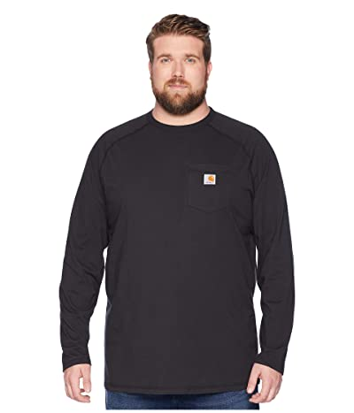 Carhartt Big Tall Force Cotton L/S Tee (Black) Men