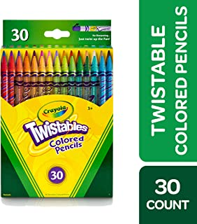 Crayola Twistables Colored Pencils Coloring Set, Gift Age 3+ - 30 Count