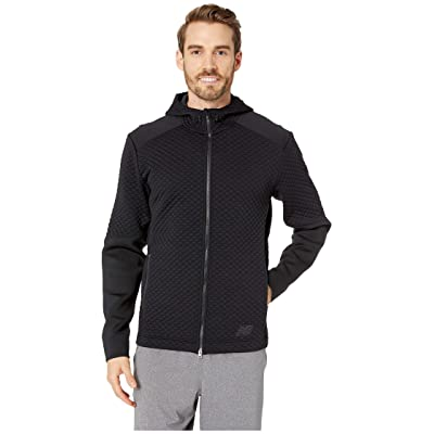 New Balance NB Heatloft Full Zip Hoodie (Black) Men