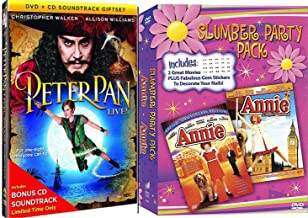 Annie Peter Pan Slumber Party Special Edition + Annie A royal Adventure Musical DVD Set & Peter Pan Live with Bonus CD Set