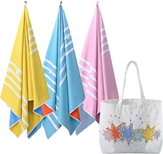 Microfibre Beach Towels for Travel - Reversible (2in1) Double Sided Quick Dry Towel for Swimmers, Sand Free Beach Towels for Kids & Adults