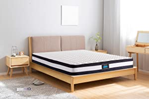 DreamQi 8 Inch Queen Hybrid Mattress Memory Foam Breathable Comfortable Mattress in A Box for Pressure Relief and Sleep Supportive (Queen, 8-inch)
