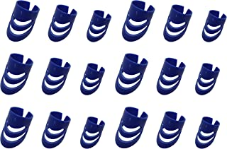 Timiy 18pcs 3 Sizes(L/M/S) Durable Plastic Guitar Bass Ukulele Finger Picks Protector Accessories (Blue)