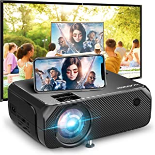 Wi-Fi Mini Projector, Bomaker Ultra Portable Projector for Outdoor Movies, 6000 Lux, HD Outdoor Movie Projectors, Wireless...