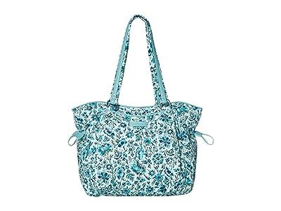 Vera Bradley Iconic Glenna Satchel (Cloud Vine) Bags