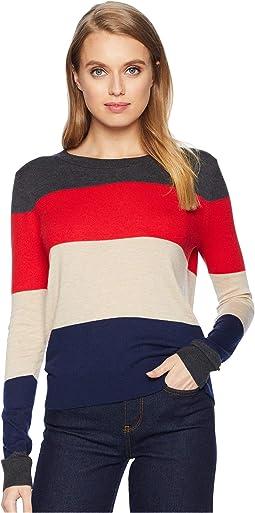 Cashmere Blend Cascade Sweater