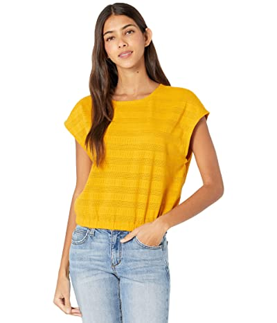 Madewell Pointelle Knit Cap-Sleeve Crop Top