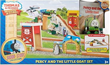 Fisher-Price Thomas & Friends Wooden Railway Percy & The Little Goat Set Toy