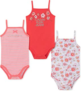 Calvin Klein Baby-Girls 3 Pieces Pack Bodysuits Rompers