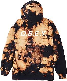 OBEY Men's O.b.e.y. Basic Pullover Hood Fleece Sweatshirt Tie Dye