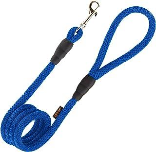 Gooby Mesh Dog Leash, 4', Blue