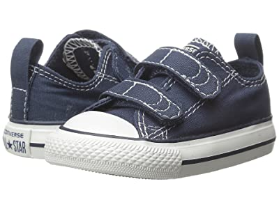 Converse Kids Chuck Taylor(r) 2V Ox (Infant/Toddler) (Athletic Navy) Kids Shoes