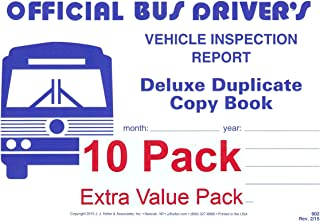 J.J. Keller 902 (25B) Bus Driver's Vehicle Inspection Report 2-Ply w/Carbon - Extra Value Pack of 10