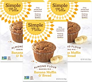 Simple Mills Almond Flour Baking Mix, Gluten Free Banana Bread Mix, Muffin Pan Ready, Made with whole foods, 3 Count (Pack...