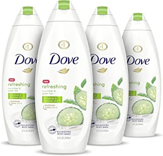 Dove go fresh Refreshing Body Wash Revitalizes and Refreshes Skin Cucumber and Green Tea Effectively Washes Away Bacteria ...
