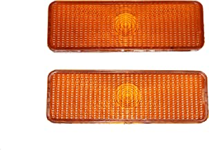 A-Team Performance 2 Front Parking Turn Signal Light Lens Compatible With F150 F250 F350 80-86 Ford Truck Bronco, Amber