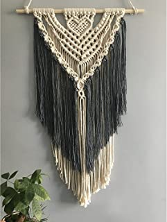 Youngeast Handmade Macrame Wall Hanging Art Home Décor 31 x 16 inches Grey