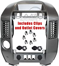 IAMAUTO 03450 Center Dash Radio AC Finisher Surround Bezel WITH Speaker Bezel For 2004 2005 2006 Nissan Titan/Armada Models PRIOR to 8/2005(WITHOUT Navigation) CLIPS INCLUDED