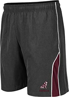 NCAA Mens Basketball Shorts - Athletic Running Workout Short-Charcoal with Team Colors