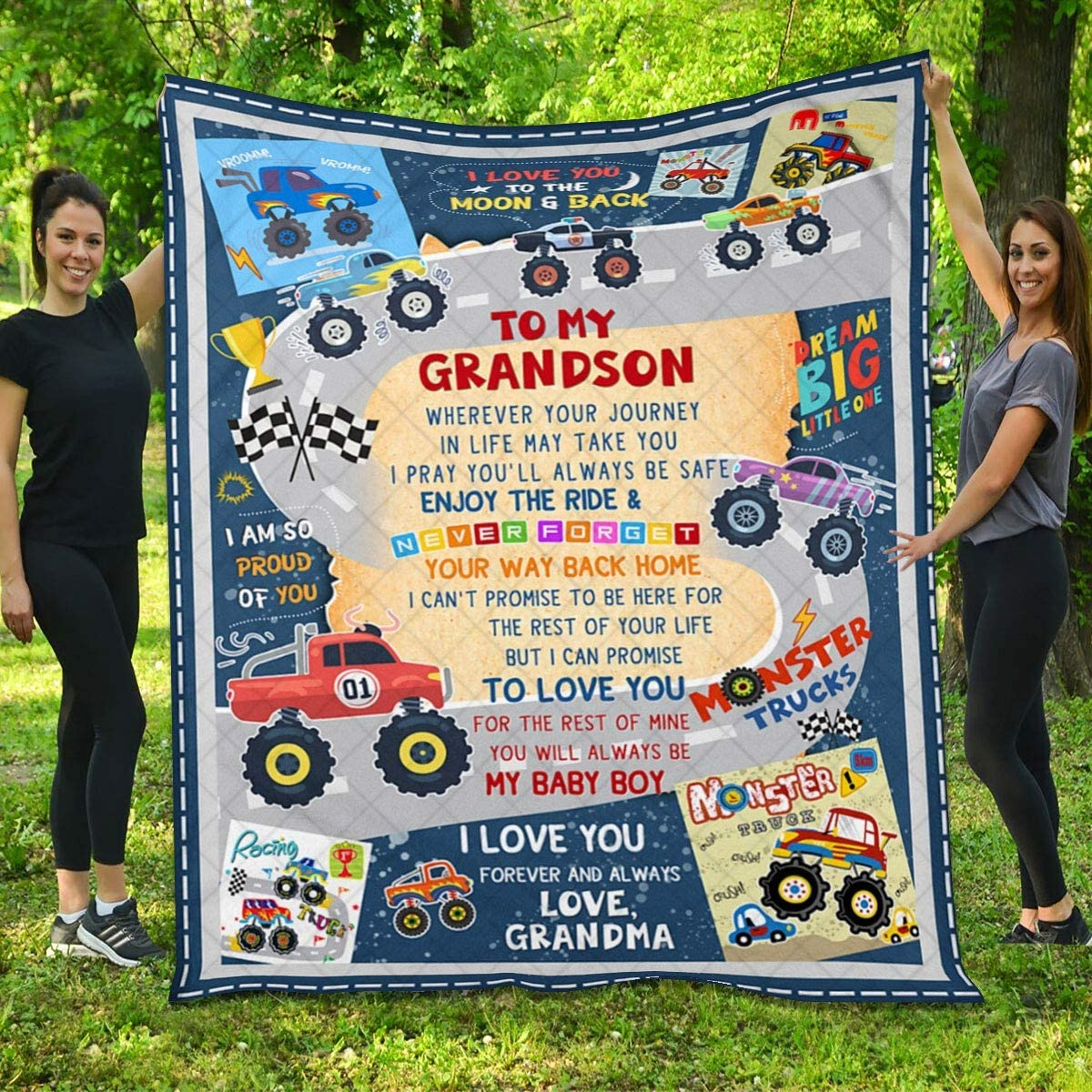 Quilt for Grandson - Race Large discharge sale Car Queen Love You I Twi Ranking TOP11