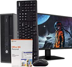 "$699 » HP 600 G2 Desktop Computer PC, Intel i5, 16GB, 2TB, Windows 10 Pro, New 23.6"" FHD V7 LED Monitor, Microsoft Office 365 Personal, New 16GB Flash Drive, Wireless Keyboard & Mouse, WiFi, DVD (Renewed)"