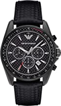 Emporio Armani Men's AR6122 Sport Black Leather Quartz Watch