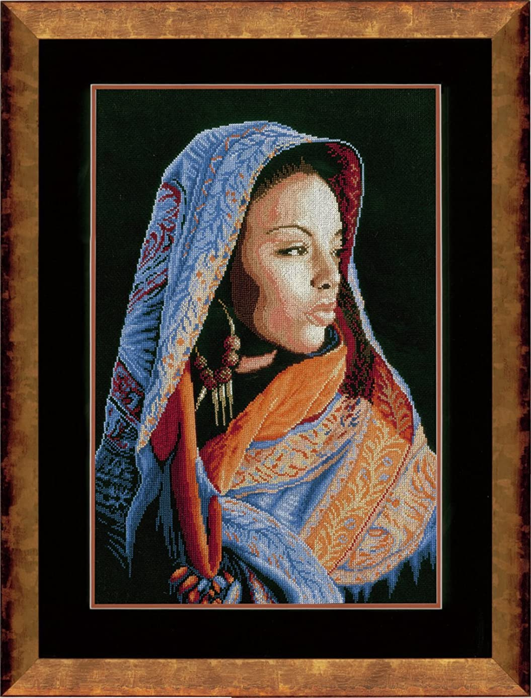 Counted Cross Stitch Kit: African Lady (Aida,B)