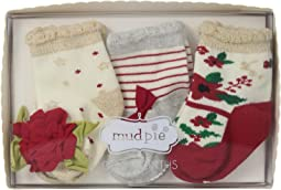 Christmas Floral 3-Pair Socks Set (Infant)