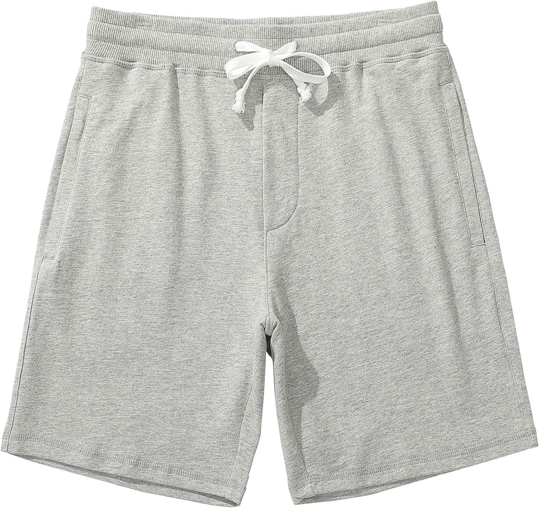 Akkad Kuti Mens Cotton Shorts with Ultra-Cheap Deals Athletic Las Vegas Mall Zippe Workout