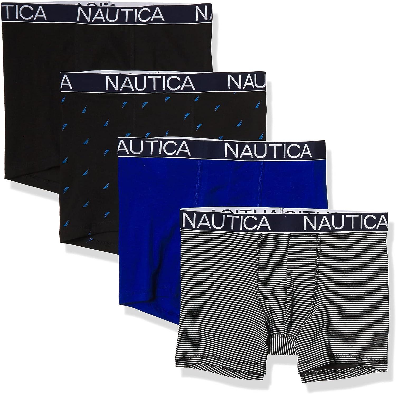 Nautica Men's Cotton Stretch 4 Pack Boxer Brief