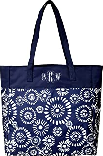 High Fashion Print Tote Bag - Personalization Available (Monogrammed Riley Navy)