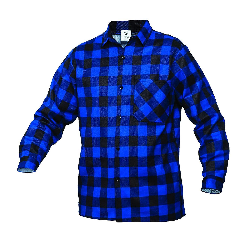 Gahibre 475 Camisa franela azul, 100% algodón 170 gramos