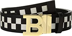 Bally - B Buckle 40 Checkered Belt