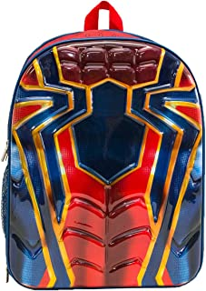 Marvel Boys' Spiderman Suit Chest Backpack, Red, One Size
