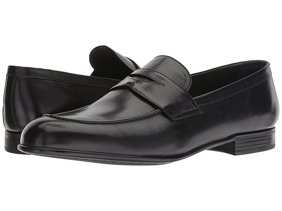 Canali Classic Penny Loafer (Black) Men