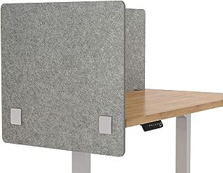 "VaRoom Acoustic Partition, Sound Absorbing Desk Divider – 30"" W x 24""H Privacy Desk Mounted Cubicle Panel, Ash Grey"
